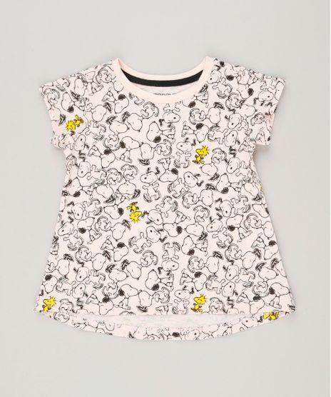 Blusa-Infantil-Estampada-Snoopy-Manga-Curta-Decote-Redondo-Rosa-Claro-9236611-Rosa_Claro_1
