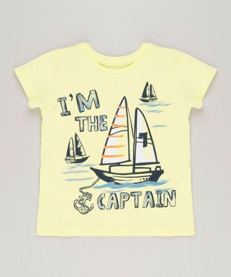 Camiseta-Infantil-Barco-Manga-Curta-Gola-Careca-em-Algodao---Sustentavel-Amarela-9224681-Amarelo_1