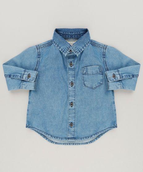 Camisa-Jeans-Infantil-Manga-Longa-Azul-Medio-9158802-Azul_Medio_1