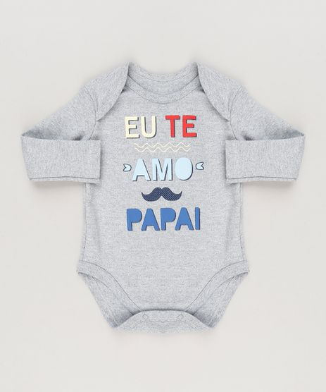 Body-Infantil--Eu-Te-Amo-Papai--Manga-Longa-Gola-Careca-Cinza-Mescla-9223030-Cinza_Mescla_1