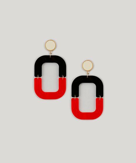 Brinco-Feminino-Bicolor-em-Acrilico-Vermelho-9217793-Vermelho_1