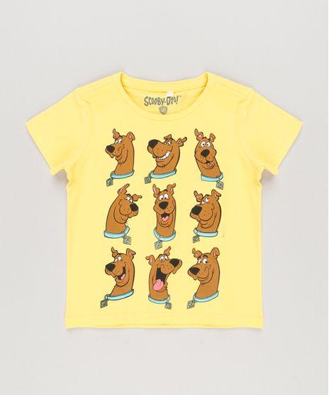 Camiseta-Infantil-Scooby-Doo-Manga-Curta-Decote-Redondo-Amarela-8378819-Amarelo_1