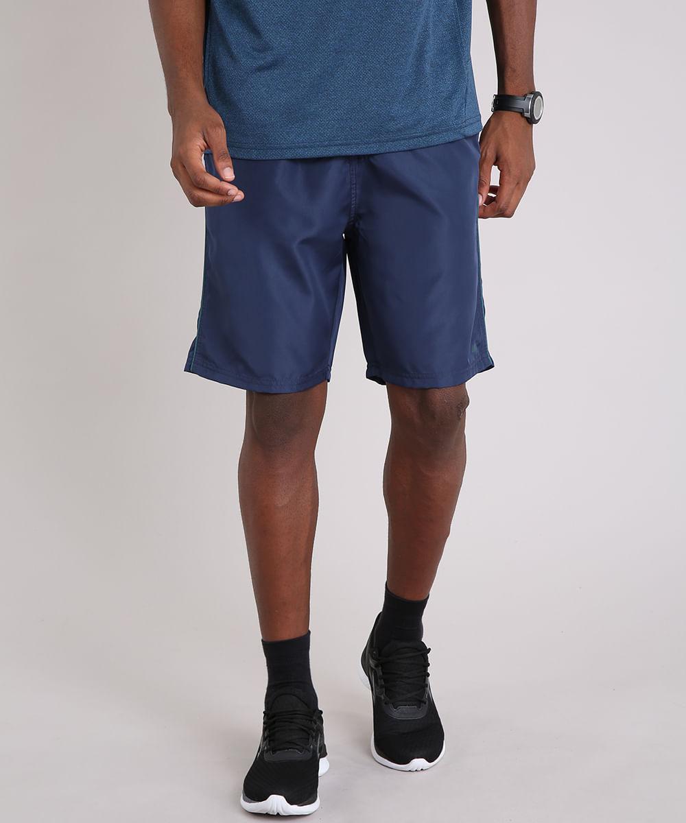 Bermuda Masculina Esportiva Ace com Vivo Contrastante Azul Marinho - cea 887250166b613