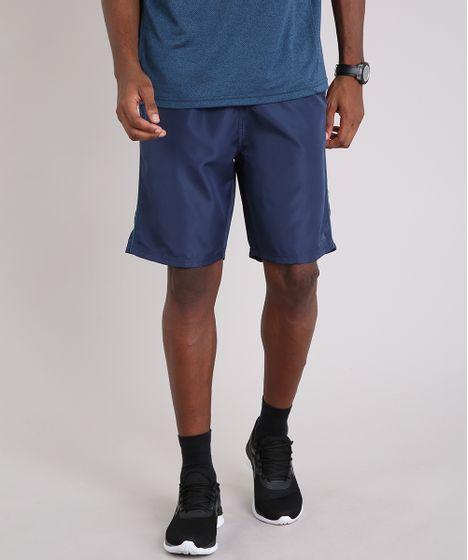 Bermuda Masculina Esportiva Ace com Vivo Contrastante Azul Marinho - cea 67b2be99642da