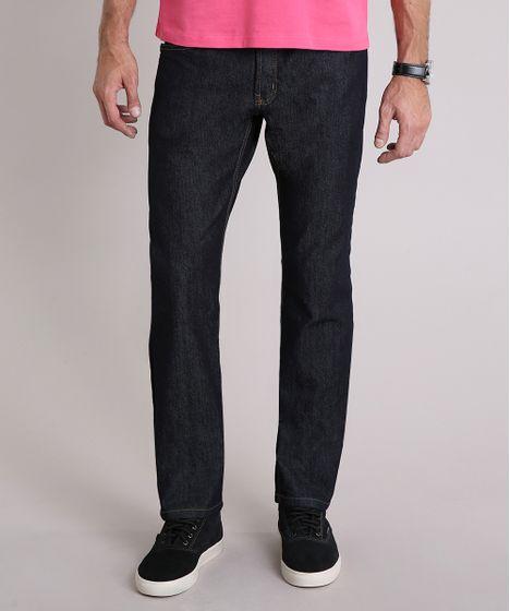 7a696618fa Calca-Jeans-Masculina-Reta-Azul-Escuro-8699119-Azul Escuro 1 ...