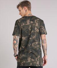Camiseta Masculina Longa Estampada Camuflada Manga Curta Gola Careca ... f14e78b0a94