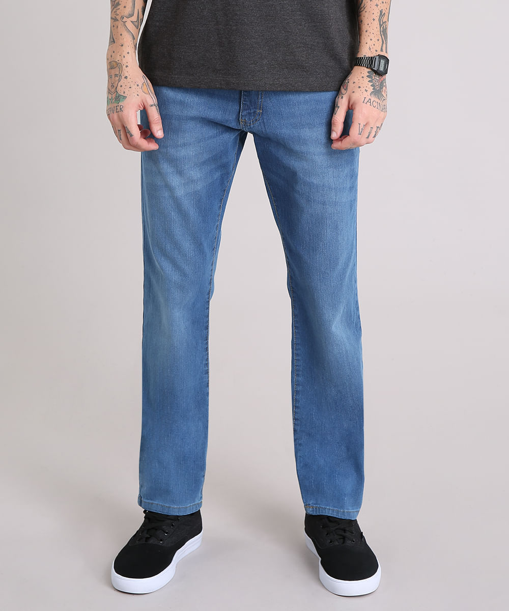 4faea91d8a Calça Jeans Masculina Reta Azul Médio - ceacollections