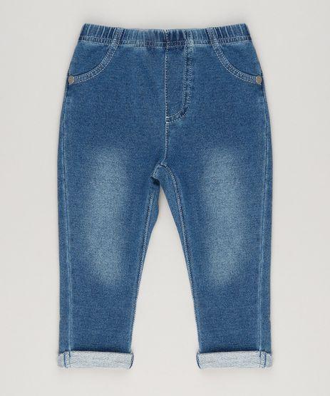 Calca-Jeans-Infantil-com-Barra-Dobrada-em-Moletom-em-Algodao---Sustentavel-Azul-Escuro-9050419-Azul_Escuro_1