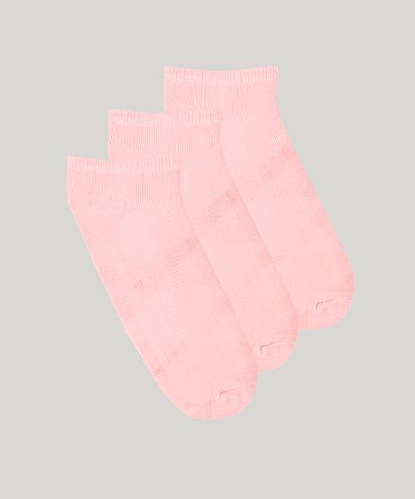 Kit-de-3-Meias-Infantis-Soquete-Rosa-Claro-9044801-Rosa_Claro_1