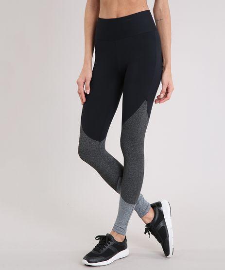20c070362 Calca-Legging-Feminina-Esportiva-Ace-com-Recortes-Preta-