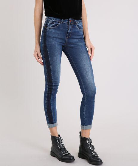 Calca-Jeans-Feminina-Skinny-Cropped-Cintura-Alta-Azul-Escuro-9217855-Azul_Escuro_1