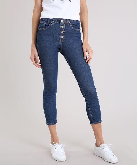 Calca-Jeans-Feminina-Skinny-Cropped-Cintura-Alta-Azul-Escuro-9222209-Azul_Escuro_1