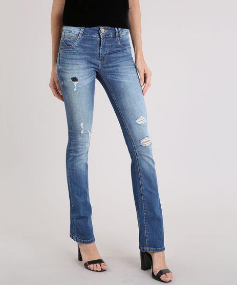 Calca-Jeans-Feminina-Flare-Sawary-Levanta-Bumbum-Destroyed-Azul-Medio-9162725-Azul_Medio_1