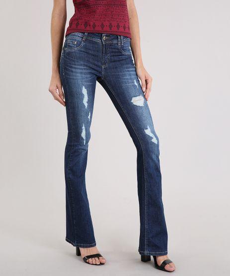 Calca-Jeans-Feminina-Flare-Sawary-Destroyed-Azul-Escuro-9209948-Azul_Escuro_1
