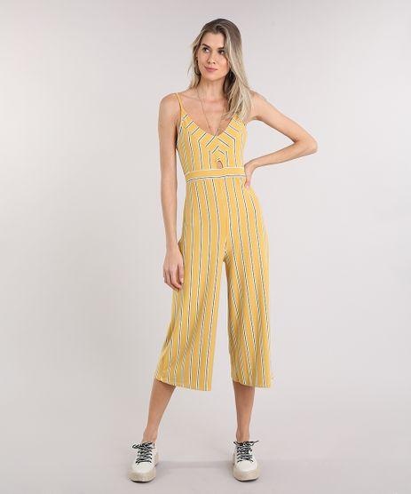 Macacao-Feminino-Pantacourt-Listrado-com-Recorte-Alca-Fina-Amarelo-9242944-Amarelo_1