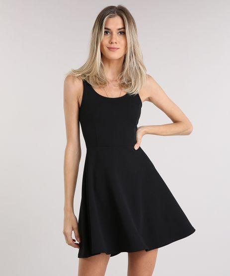 Vestido-Feminino-Evase-Curto-Decote-Redondo-Preto-9248330-Preto_1