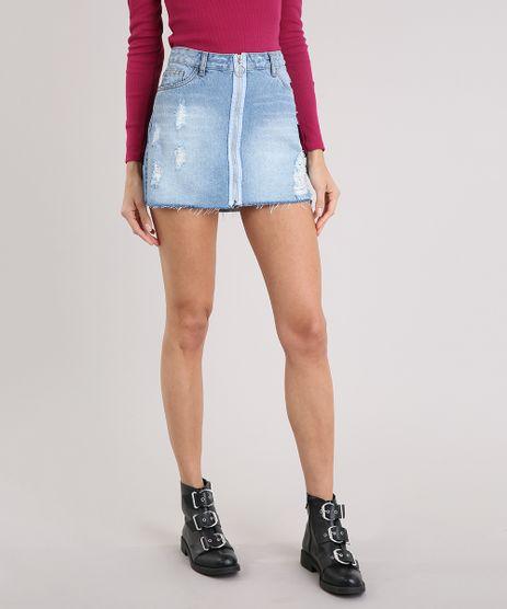 Saia-Jeans-Feminina-Destroyed-com-Ziper-de-Argola-Azul-Claro-9004687-Azul_Claro_1