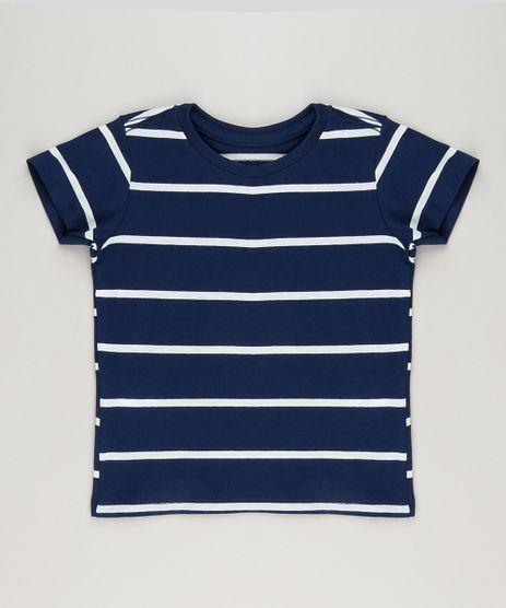 Camiseta-Infantil-Listrada-Manga-Curta-Gola-Careca-em-Algodao---Sustentavel-Azul-Marinho-9232202-Azul_Marinho_1