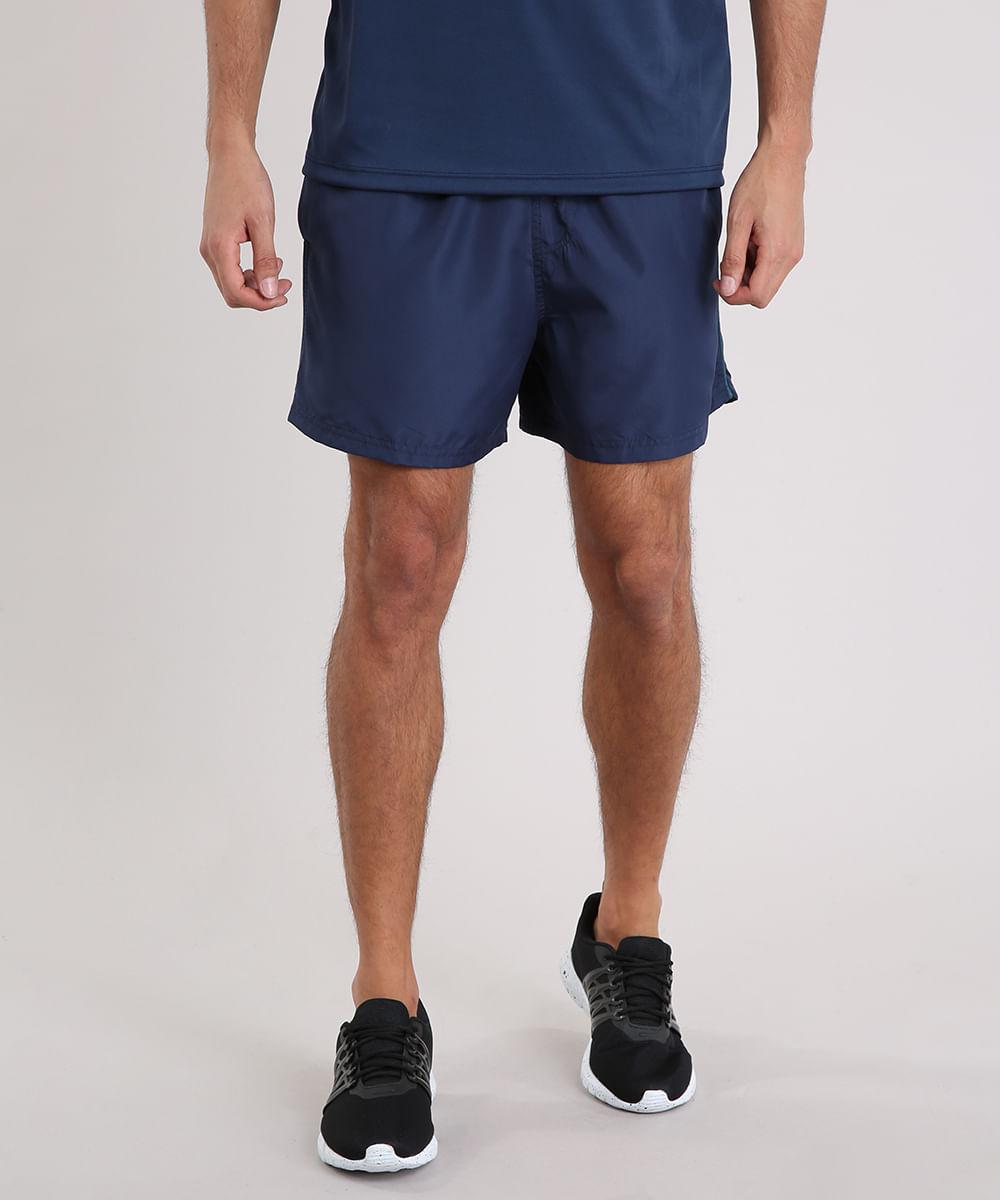 Short Masculino Esportivo Ace com Vivo Contrastante Azul Marinho ... 3683738f9a7f0