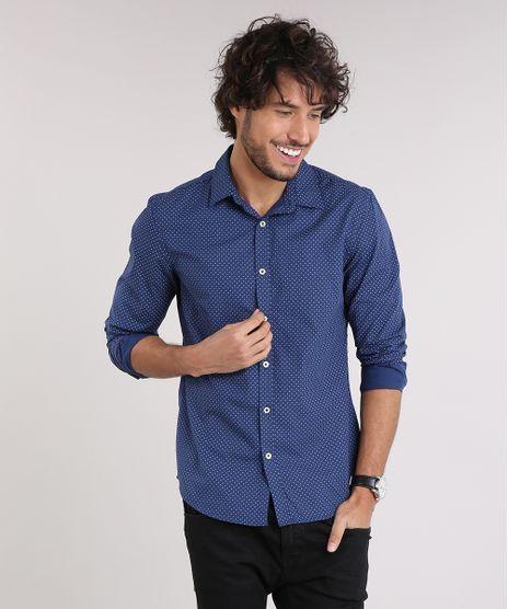 Camisa-Masculina-Slim-Estampada-Mini-Print-Paisley-Manga-Longa-Azul-Marinho-9167869-Azul_Marinho_1