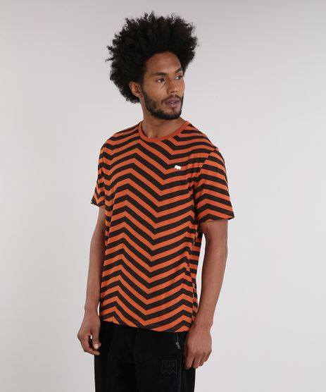 Camiseta-Masculina-LAB-Geometrica-Manga-Curta-Gola-Careca-Laranja-Escuro-9170180-Laranja_Escuro_1