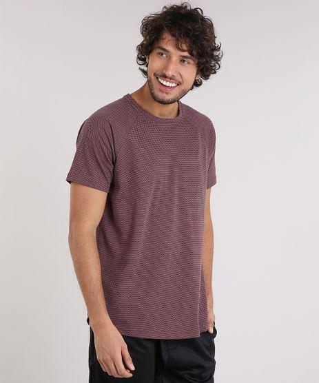 Camiseta-Masculina-Texturizada-Manga-Curta-Gola-Careca-Vinho-9204907-Vinho_1
