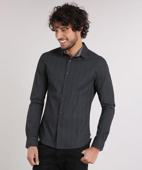 Camisa-Masculina-Super-Slim-Estampada-Manga-Longa-Preta-9050306-Preto_1