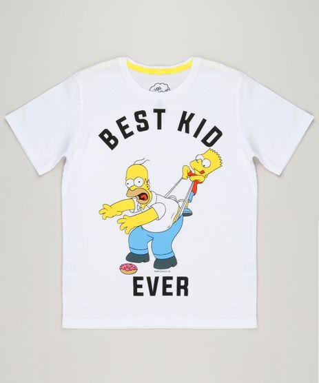 Camiseta-Infantil-Tal-Pai-Tal-Filho-Os-Simpsons-Manga-Curta-Gola-Careca-Off-White-9222356-Off_White_1