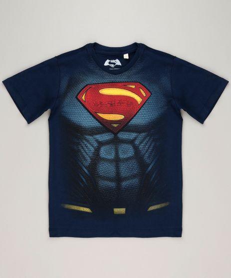 Camiseta-Infantil-Super-Homem-Manga-Curta-Gola-Careca-em-Algodao---Sustentavel-Azul-Marinho-9235151-Azul_Marinho_1