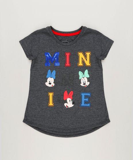 Blusa-Infantil-Minnie-com-Paete-Manga-Curta-Decote-Redondo-em-Algodao---Sustentavel-Cinza-Mescla-Escuro-9230156-Cinza_Mescla_Escuro_1