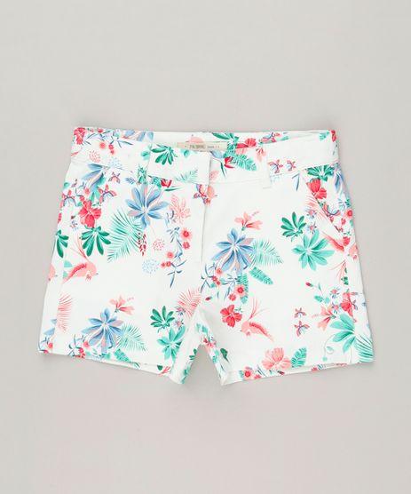 Short-Infantil-Estampado-Floral-com-Bolsos-Off-White-9115647-Off_White_1