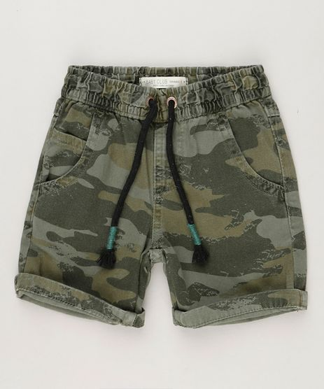 Bermuda-Infantil-Estampada-Camuflada-com-Bolsos--Verde-Militar-9235718-Verde_Militar_1