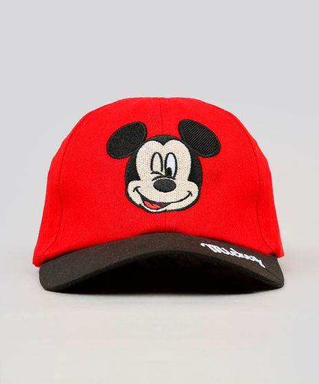 Bone-Infantil-Mickey-com-Bordado-Aba-Curva-Vermelho-9239853-Vermelho_1