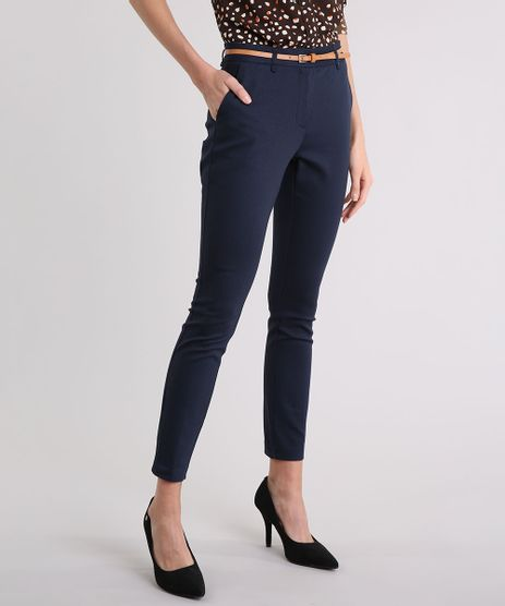Calca-Feminina-Skinny-em-Piquet-com-Cinto-Azul-Marinho-8654154-Azul_Marinho_1