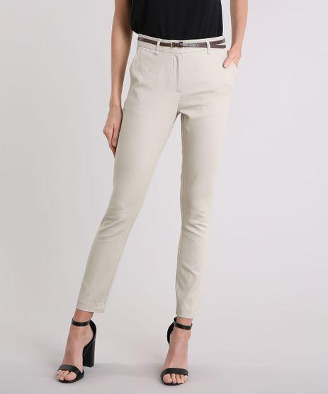 Calca-Feminina-Skinny-em-Piquet-com-Cinto-Kaki-8654154-Kaki_1