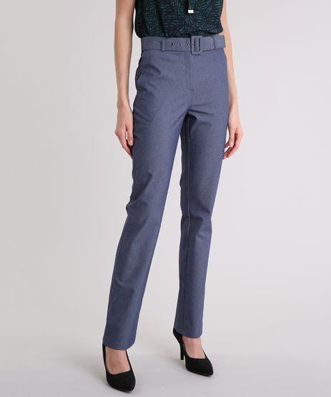 Calca-Jeans-Feminina-Reta-com-Cinto-Azul-Escuro-9089370-Azul_Escuro_1