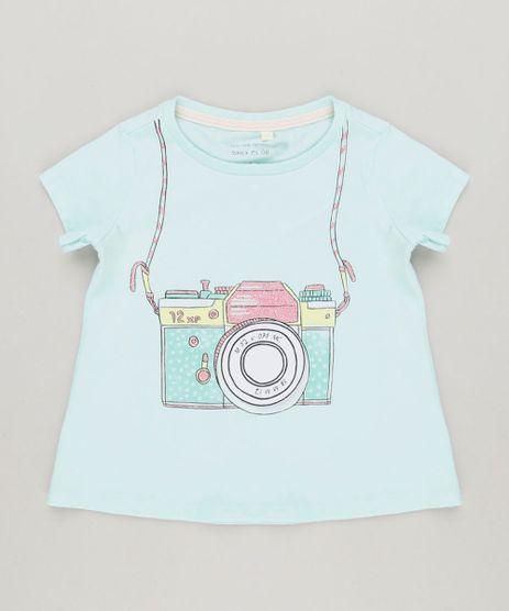 Blusa-Infantil-com-Estampa-Interativa-Camera-com-Glitter-Manga-Curta-Decote-Redondo-em-Algodao---Sustentavel-Verde-Claro-9229128-Verde_Claro_1