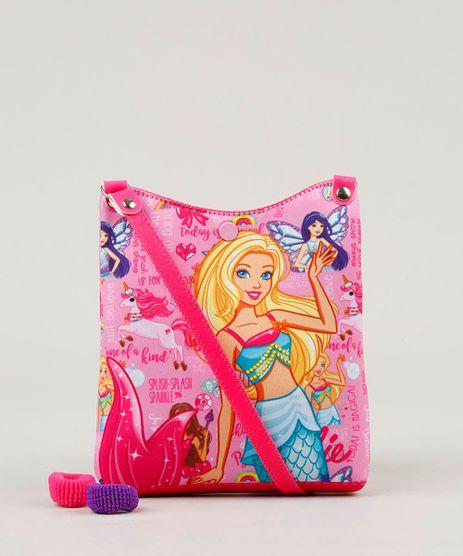 Bolsa-Infantil-Estampada-Barbie---Elasticos-de-Cabelo-Rosa-9126650-Rosa_1