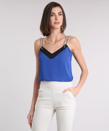 Regata-Feminina-com-Ilhos-e-Alca-Fina-Decote-V-Azul-Royal-9086752-Azul_Royal_1