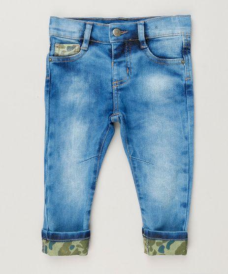 Calca-Jeans-Infantil-com-Barra-Estampada-Camuflada-Azul-Medio-9236010-Azul_Medio_1