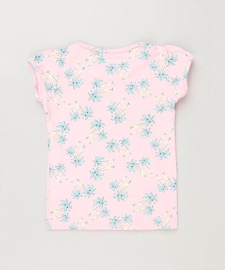Blusa-Infantil-Estampada-de-Coqueiros-Manga-Curta-Decote-Redondo-em-Algodao---Sustentavel-Rosa-9220803-Rosa_1