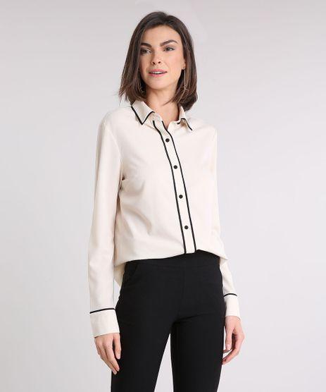 Camisa-Feminina-com-Vivo-Contrastante-Manga-Longa-Bege-Claro-9079187-Bege_Claro_1