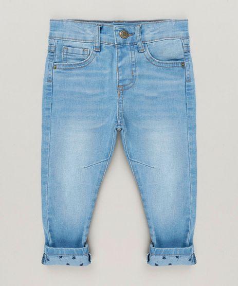 Calca-Jeans-Infantil-com-Barra-Estampada-de-Coqueiros-Azul-Claro-9235753-Azul_Claro_1