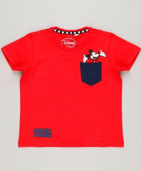 Camiseta-Infantil-Mickey-com-Bolso-Manga-Curta-Gola-Careca-Vermelha-9233487-Vermelho_1