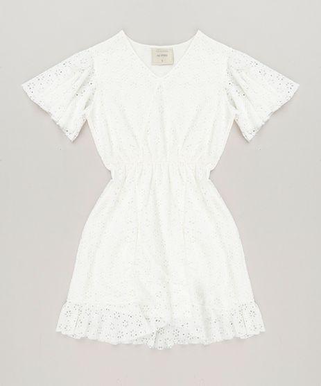Vestido-Infantil-em-Renda-Manga-Curta-Decote-V-Off-White-9232119-Off_White_1