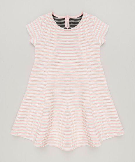 Vestido-Infantil-Listrado-Evase-em-Jacquard-Manga-Curta-Decote-Redondo-Rosa-9140687-Rosa_1