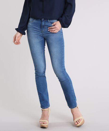 Calca-Jeans-Feminina-Reta-Cintura-Alta-Azul-Medio-9231004-Azul_Medio_1