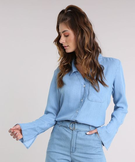 Camisa-Jeans-Feminina-Manga-Sino-Azul-Claro-9209338-Azul_Claro_1