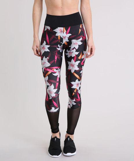 Calca-Legging-Feminina-Esportiva-Ace-Estampada-Floral-com-Tela-Preta-9230779-Preto_1