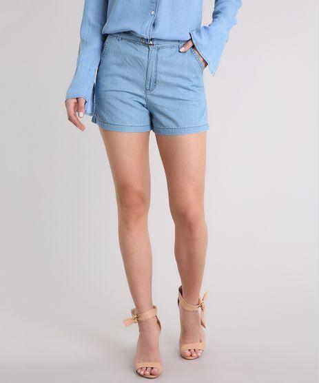 Short-Jeans-Feminino-com-Cinto-Azul-Claro-9209335-Azul_Claro_1